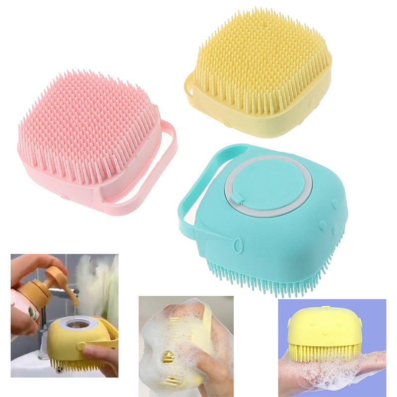 Silicone Bath Brushes Body Exfoliator Soft Massage Brush Baby Cleaning Show pet