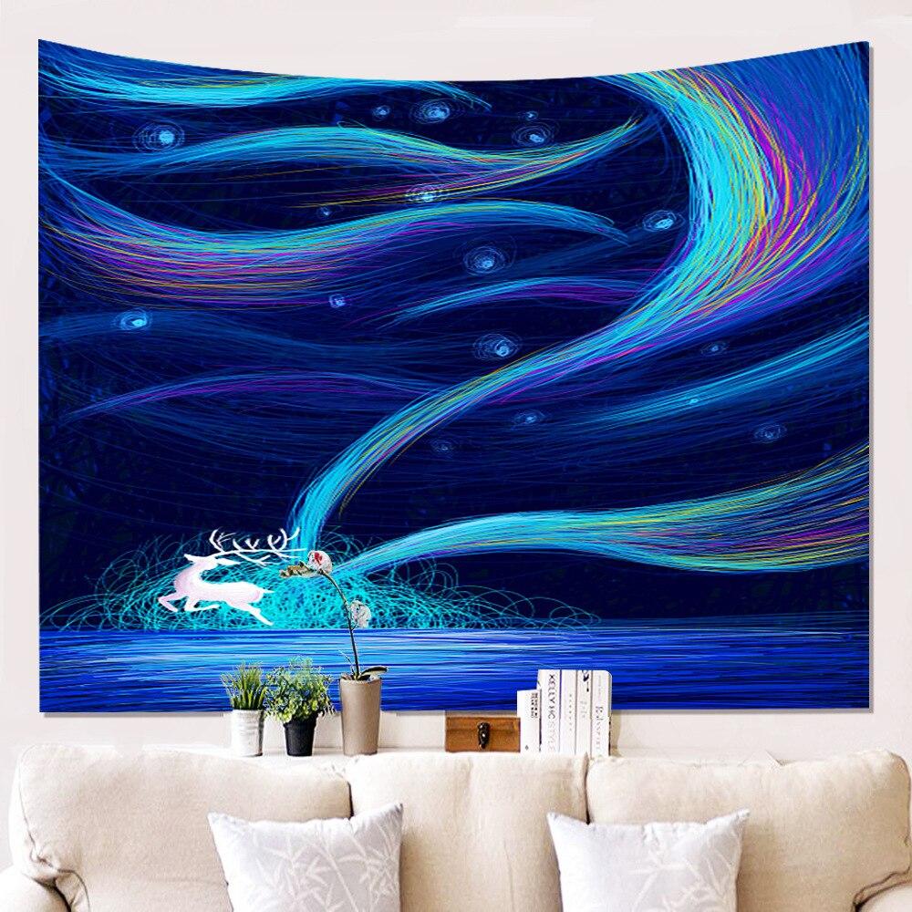 Nueva impresión de pintura tapiz baño ducha cortina colgante tela sala de estar fondo de sala paño manta de coche