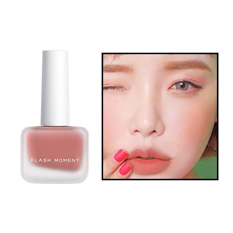 Colorete de rubor FLASHMOMENT, colorete facial natural, crema de melocotón, rubor resistente al agua, colorete de maquillaje, rubor líquido, rubor TSLM1