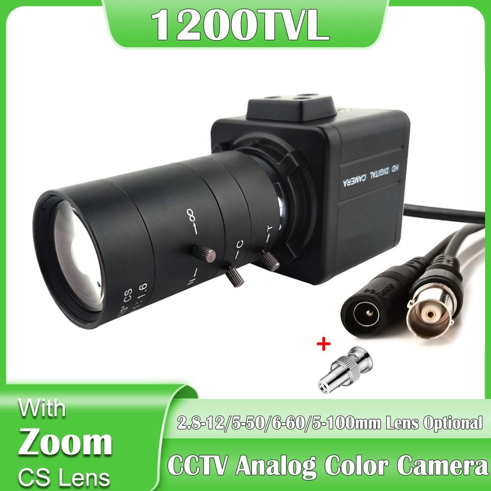 1200TVL CCTV التناظرية اللون الأمن كاميرا مع 2.8-12/5-50/6-60/5-100 مللي متر دليل التركيز djustabilعدسة معدنية صغيرة كاميرا يمكن حملها بالجسم