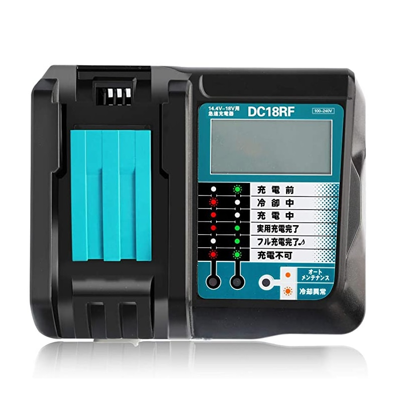 DC18RF Rapid Charger With LCD Screen 3.5A Charging Current for Makita 14.4V -18V Lithium Battery Charger tools for Charger enlarge