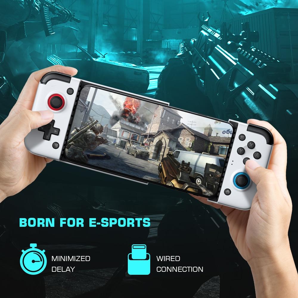 Gamesir x2 2021 version type-c gamepad mobile game controller/ joystick android gamepad telescopic handle no delay (white)