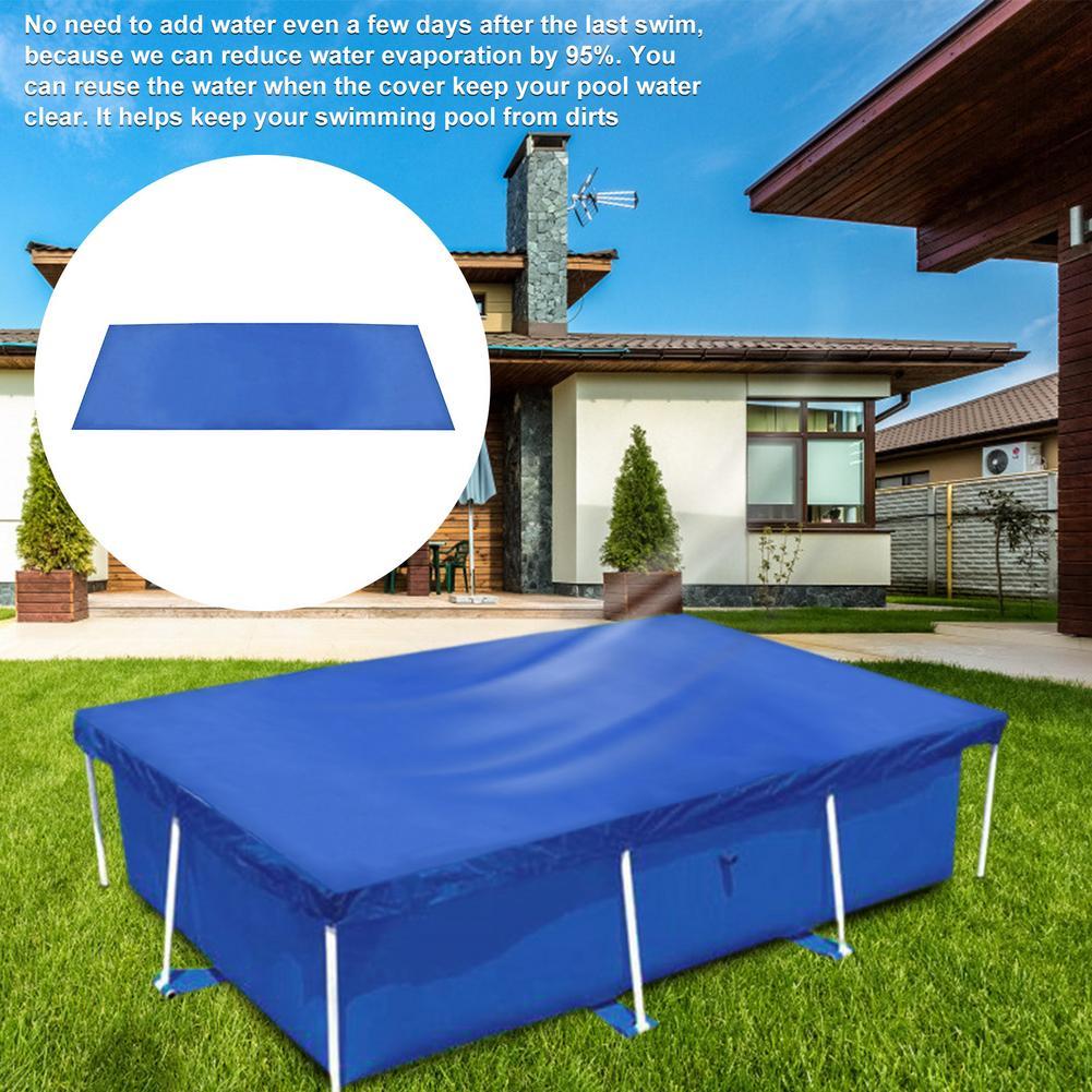Прямоугольный защитный чехол для бассейна, уличная изоляционная пленка для бассейна, защитные аксессуары для сада и бассейна