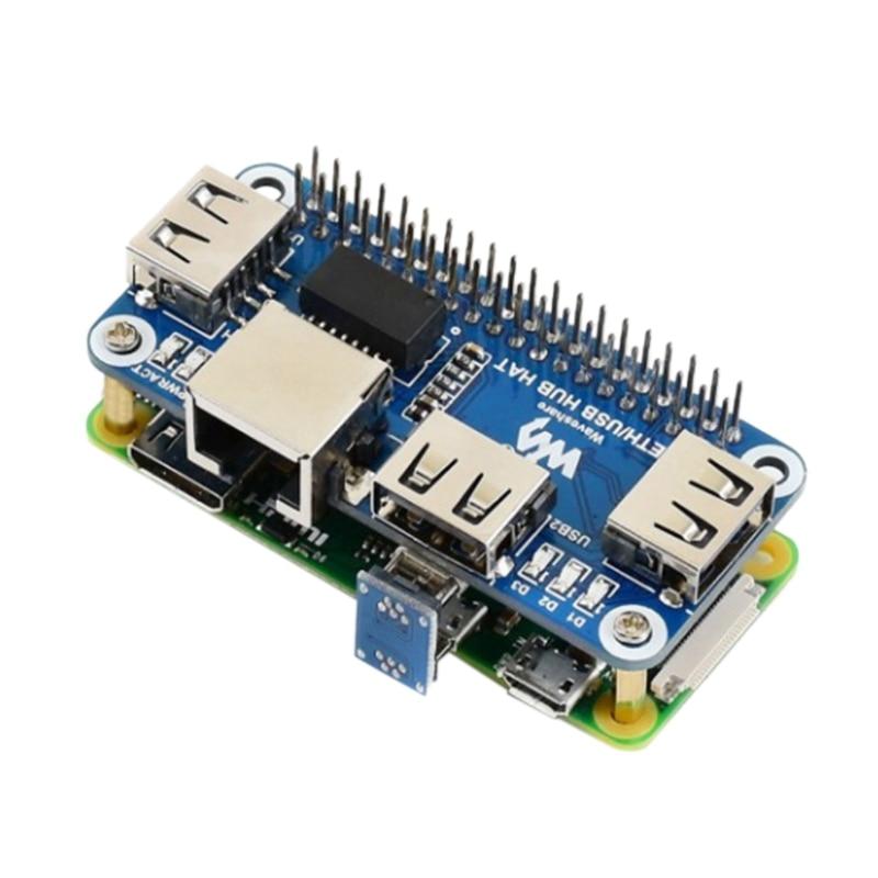 Waveshare Ethernet/usb-хаб шапка для Raspberry Pi 1X RJ45 Ethernet Порты и разъёмы 3X Порты usb 5V