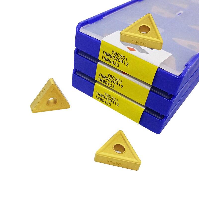 10 قطعة ZCC تحول أداة إدراج TNMG 220412 لوحة من الكربيد TNMG220412 دائرة نصف قطرها 1.2 للوحة مثلث الصلب