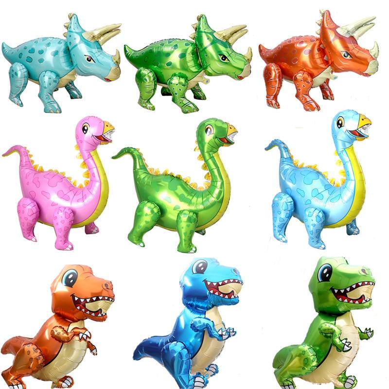 AliExpress - 1 Large 4D Walking Dinosaur Foil Balloon Boy Animal  Children Dinosaur Birthday Forest Party Decoration