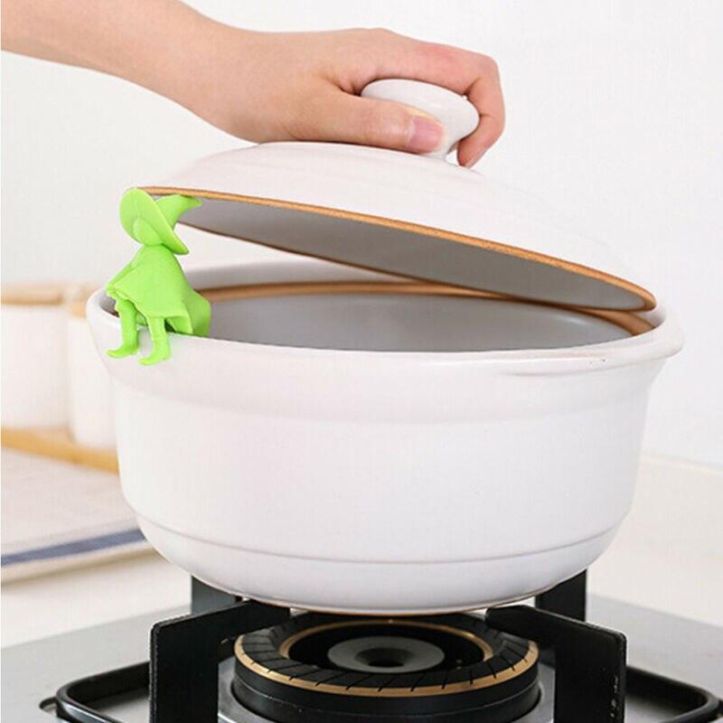 Utensilios de cocina villanos de silicona, dispositivo de desbordamiento de ollas, herramientas de elevación, Garget, herramienta de cocina, accesorios de cocina