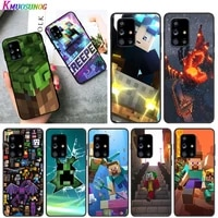 video game mini world for samsung a01 02 02s 11 12 21 21s 22 31 32 41 42 51 72 s20 ultra plus 4g 5g black soft phone case