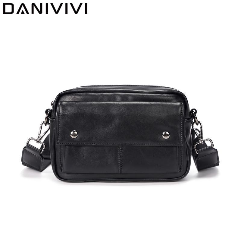 Mode Marke Leder Mini Handtasche männer Schulter Umhängetaschen für Männer Geldbörsen Casual Kamera Tasche Schwarz Telefon Geld Pouch mann