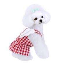 Pet Dress Dog Cotton Angel Lattice Princess Style Breathable Skirt Puppy Summer Clothing Apparel Costume