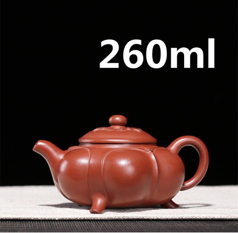 Gongfu-إبريق شاي صيني مصنوع يدويًا ، مجموعة إبريق شاي ، طين Yixing Zisha 2020 مللي ، تغليف هدايا سريع عصري ، بيع 260