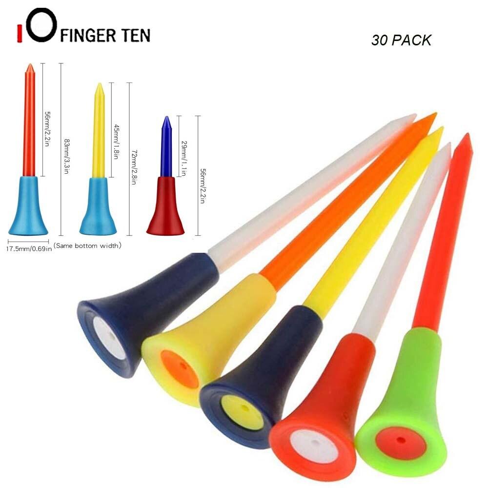 30 Uds. De camisetas de Golf de caucho duradero multicolor con almohadillas de plástico de 83mm, 70mm, 54mm, irrompible
