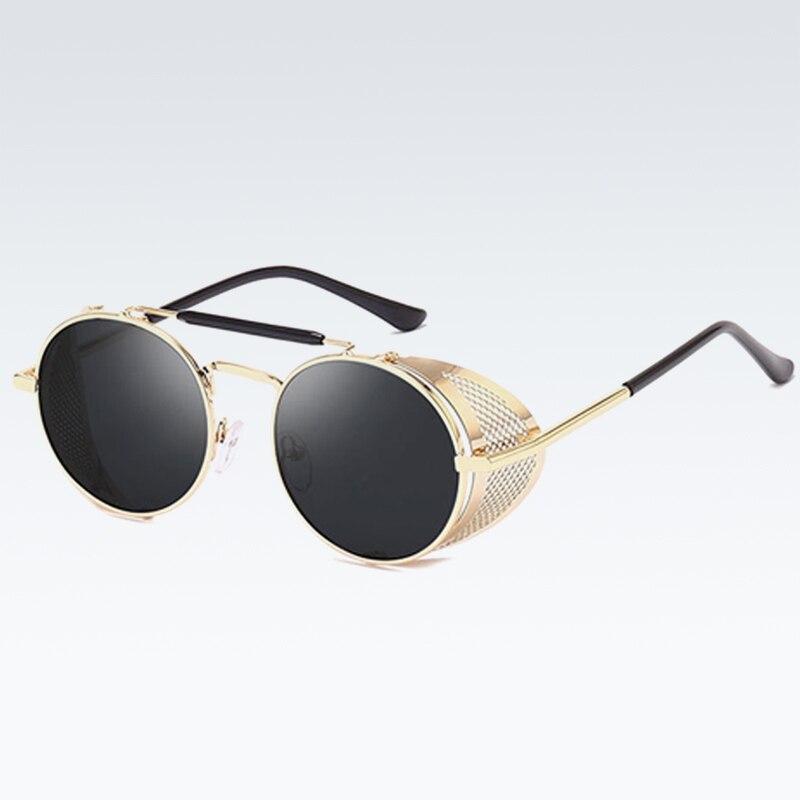 New Fashion Metal Shield Steampunk Woman Sunglasse Personality Windshield Glasses Retro Toad Mirror