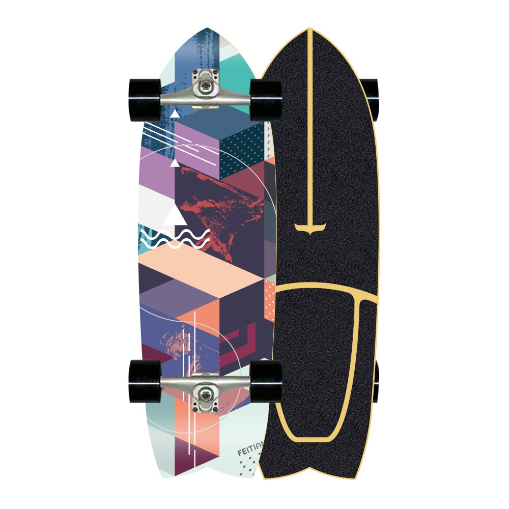 Professional Maple Skateboard Teenagers Street Brushing Land Surfboard Skate Board Cruiser Deck Patineta Sports Equipment BI50SB
