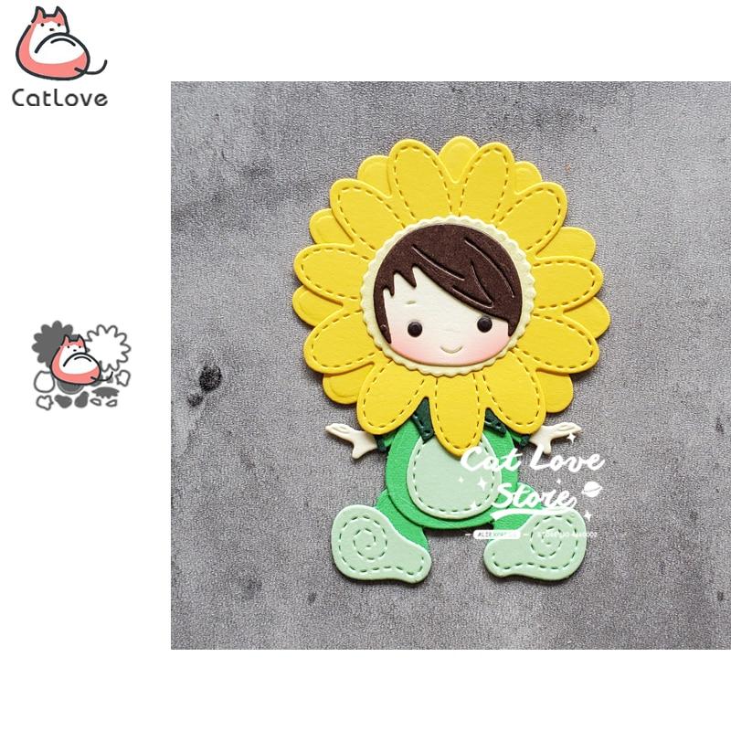 Catlove Sunflower Baby Flower Metal Cutting Dies Scrapbooking Stencil Die Cuts Card Making DIY Craft Embossing New Dies For 2020