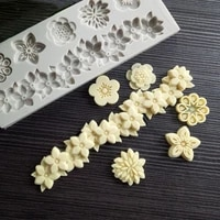 flowers a variety of fondant silicone mold diy cake circumference mold soft candy mold