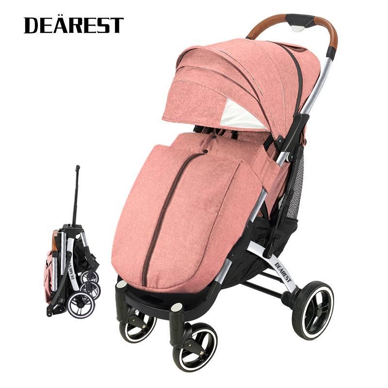 DEAREST Pro 2021 New  Baby Stroller Lightweight a Key Folding Baby Car Baby Stroller Can Sit Or Lie enlarge