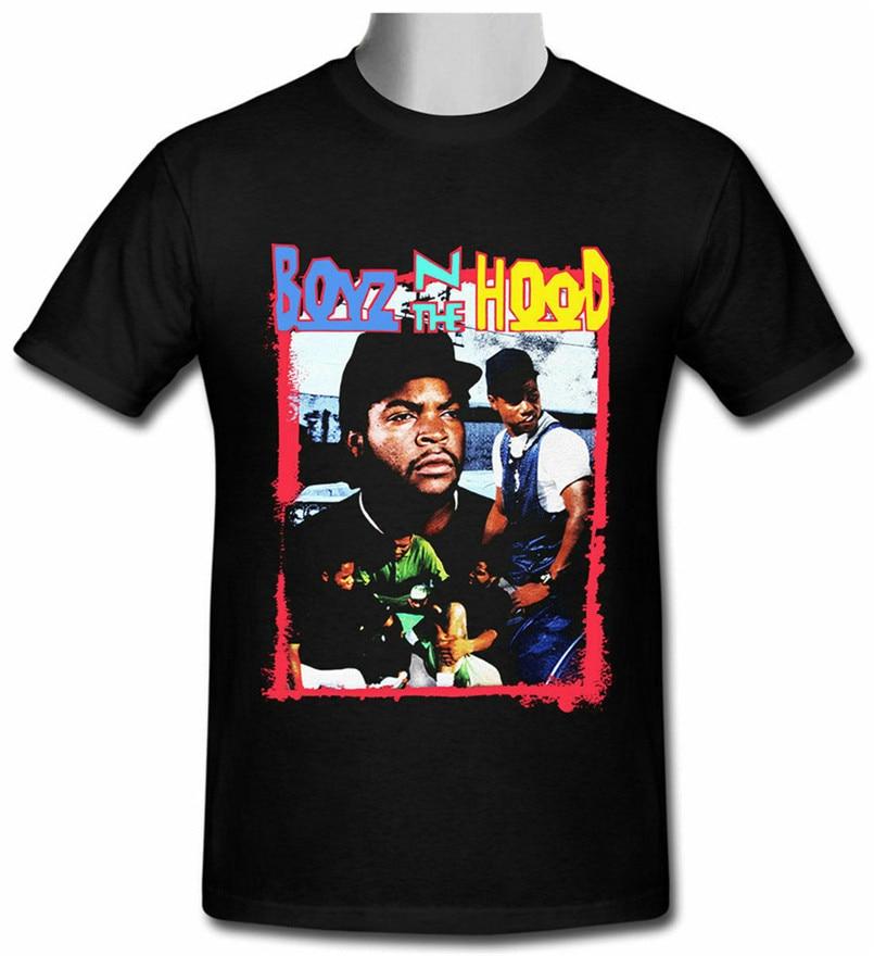 Vtg raro Boyz N el capó Vintage cubo de hielo negro camiseta tamaño S-2Xl-3XL ropa masculina Retro Casual camiseta