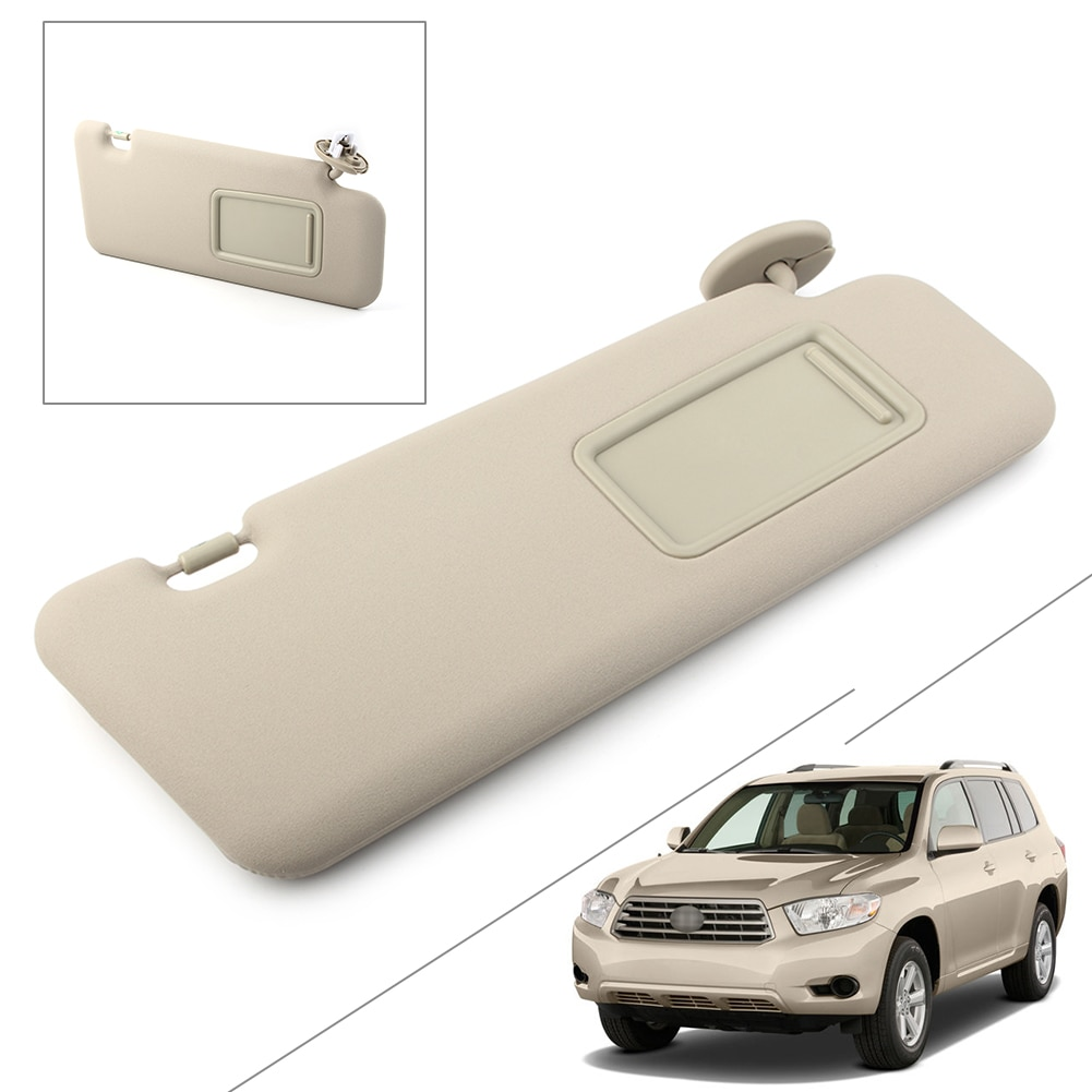 Para Toyota Highlander Beige parasol para coche sombrilla escudo 2008, 2009, 2010, 2011, 2012, 2013 W/luz Lado derecho