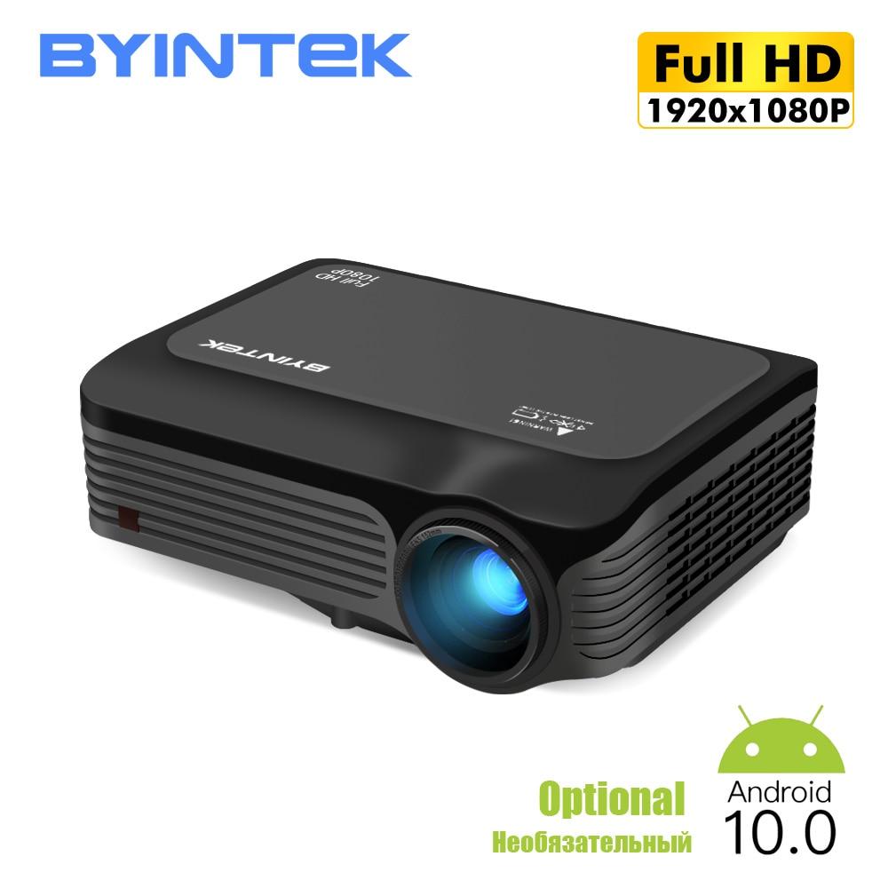 BYINTEK K18 HD led Proyector 4k 1080P Proyector LED Proyector para Smartphone 3D 4K Cine (opcional Android TV caja)