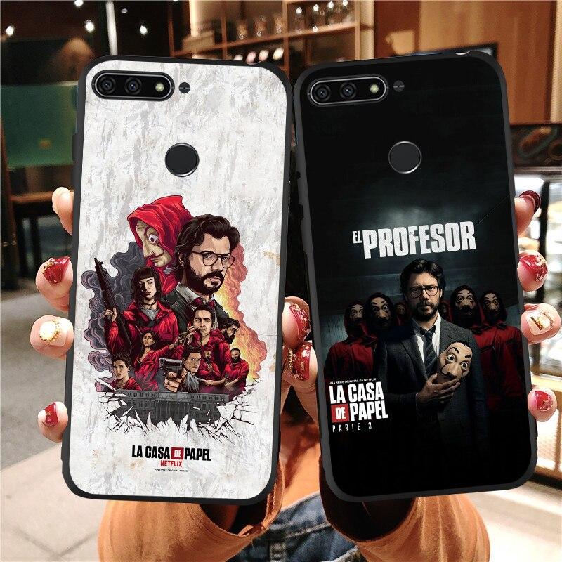 Estuche para teléfono suave para Huawei Honor 9X La Casa de papel para cubrir Honor 9 10 Lite 20 20 20 pro V30 Pro 8X