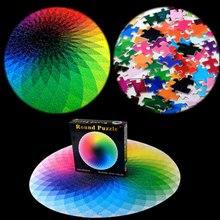 1000 pièces rond arc-en-ciel Puzzle dégradé couleur créatif puzzle en bois puzzle adulte enfants bricolage jouet éducatif cadeau
