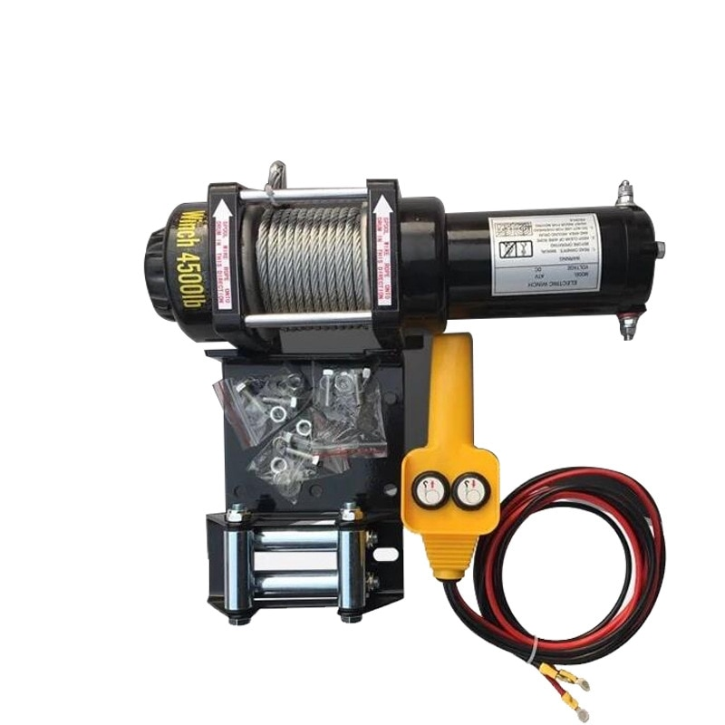 12 В 24 В Автомобильная самоспасательная Лебедка для внедорожника электрическая лебедка для автомобильного крана 2000 фунтов
