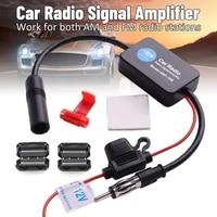 car stereo fmam radio signal antenna aerial signal amp signal amplifier universal auto car radio fm antenna signal booster