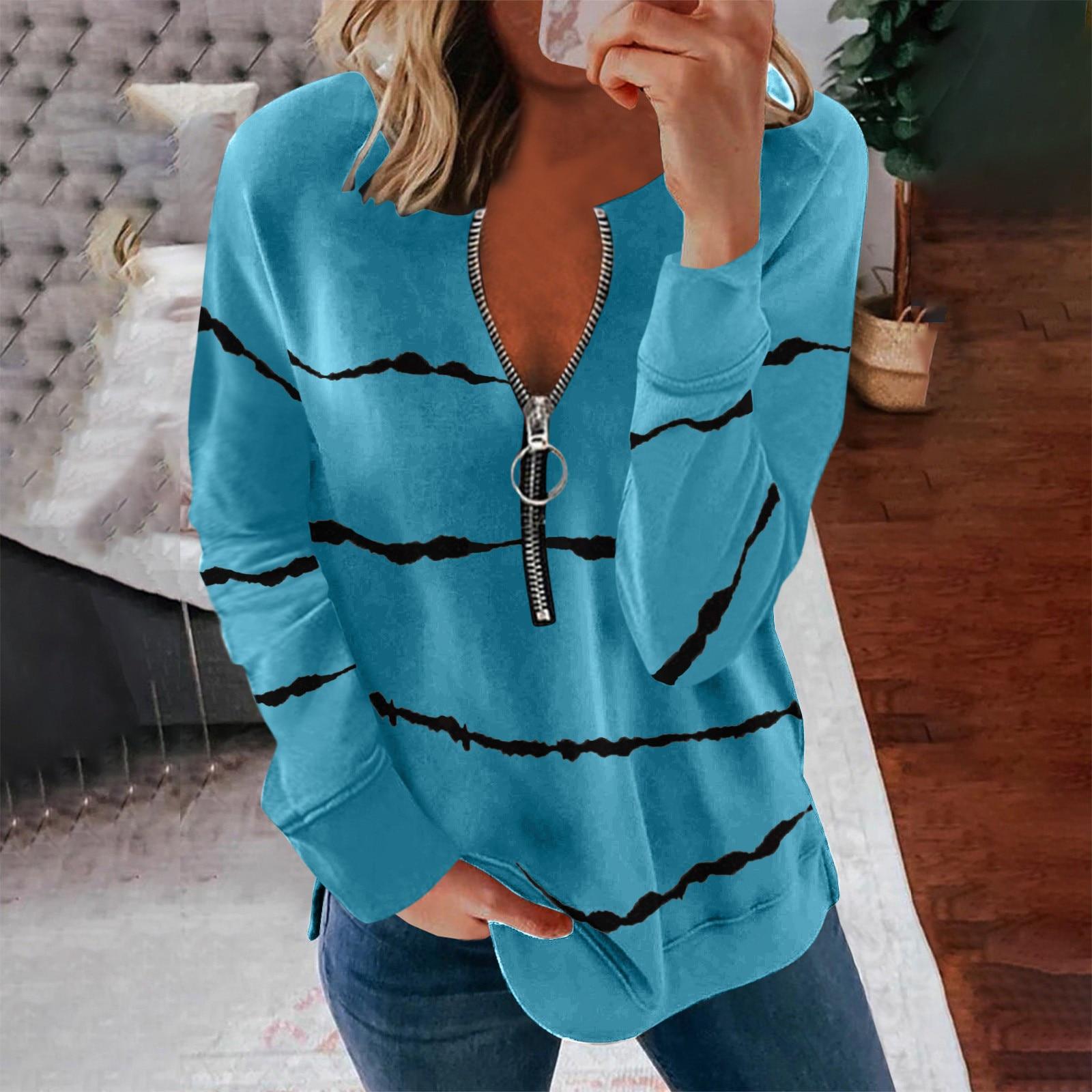 Blusa informal De manga larga con estampado a rayas para verano, camisa...