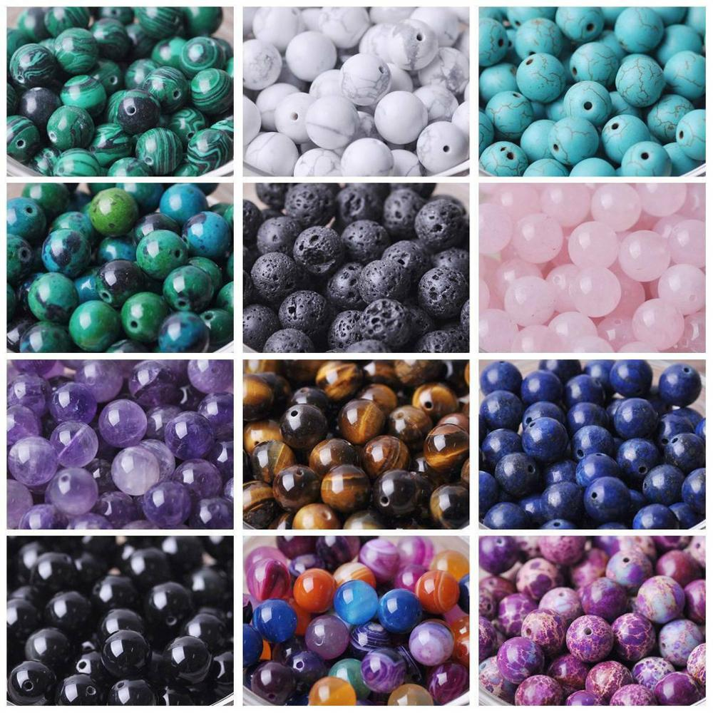 4mm 6mm 8mm 10mm mixed color round crackle glass beads loose spacer beads for jewelry making diy bracelet necklace Round 4mm 6mm 8mm 10mm 12mm Natural Stone Rock Loose Spacer Beads lot for Bracelet Jewelry Making Findings DIY Crafts