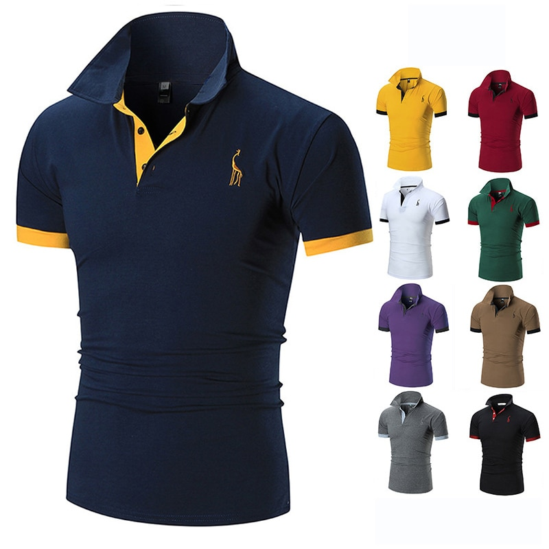 men's polo shirts casual short sleeve polo shirt men fashion embroidery Business men's clothing thin