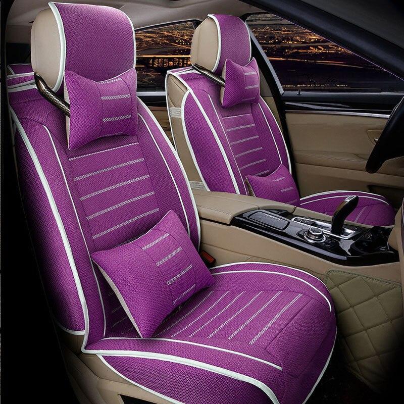Fundas de asiento de coche transpirables universales para Nissan Qashqai Note Murano March Teana Tiida Almera x-trai Auto Accessories Car Sticker
