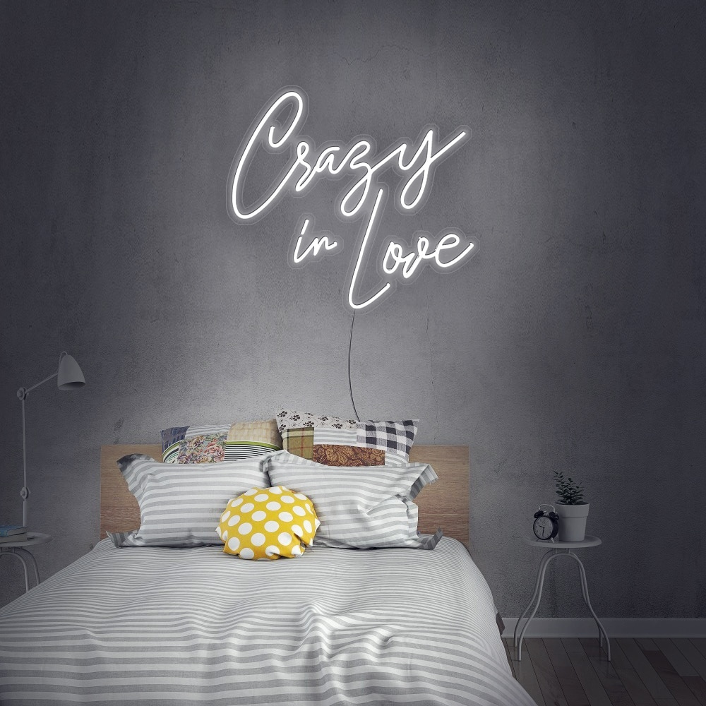 Crazy In Love Led Neon Sign Custom For Room Bedroom Decor Wall Decoration with dimminng plug powered enlarge