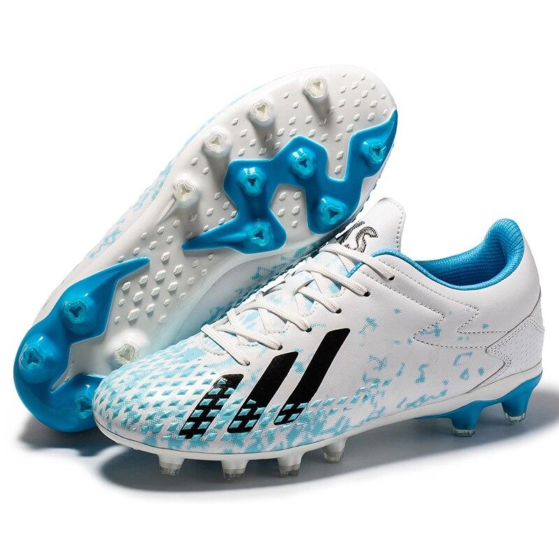 Мужская футбольная обувь для взрослых и детей TF/FG тренировочные футбольные бутсы сникерсы сверхлегкие Нескользящие строительные бутсы