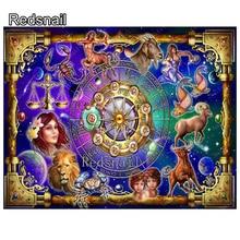 12 constellations Diamond Painting fantasy Astrology 5D Diamond embroidery Needlework 3d Diamond Cross Stitch zodiac art TT1793