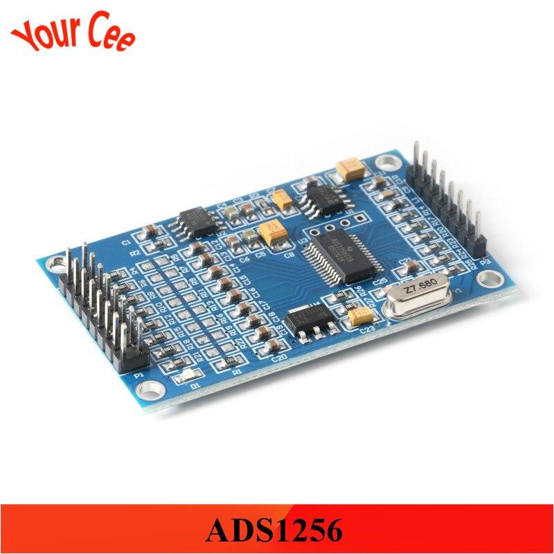 ADS1256 24bit 8 canales ADC Módulo de adquisición de datos de recolección de módulo de CA interfaz 5V SPI de alta precisión