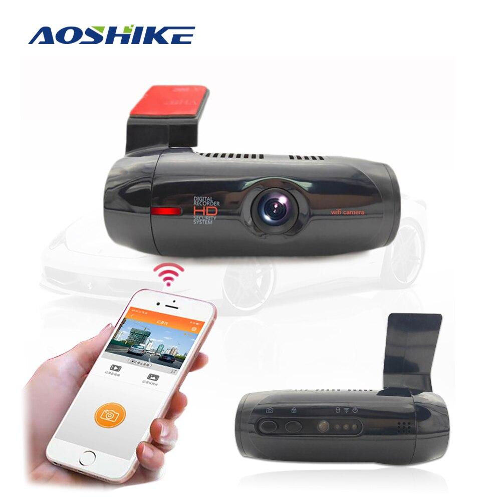 AOSHIKE Car DVR Dashcam Full HD 1080P 170 grados Dash Cam aplicación inalámbrica coche camión conducción grabadora Auto Registrar visión nocturna