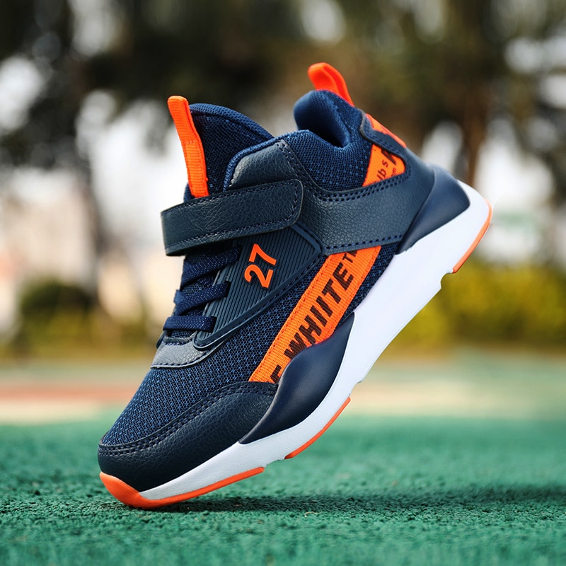 Children Sports Shoes Boys Girls Spring Damping Outsole Slip Patchwork Breathable Kids Sneakers Chil