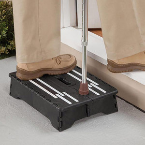 Portable Folding Step Non-Slip Plastic One Step Stool for Toilet Caravan Elderly Pregnant PI669