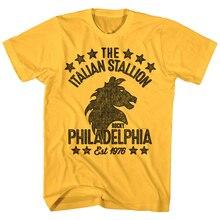 Rocky Balboa Italian Stallion Philadelphia MenS T Shirt Boxing Horse Head Stars Full-Figured Tee Shirt