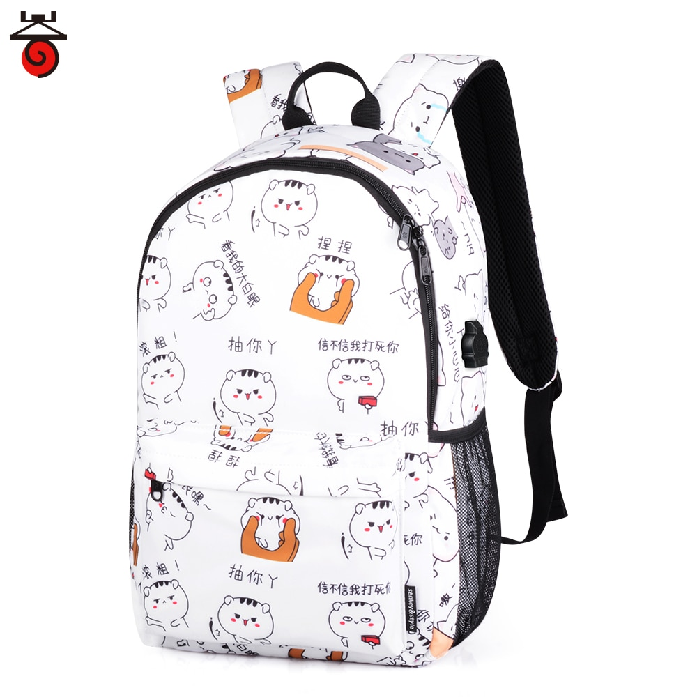 New School Bags Girl schoolbag Female Laptop Backpack Backbag Children Backpacks Cute Cat School Bac