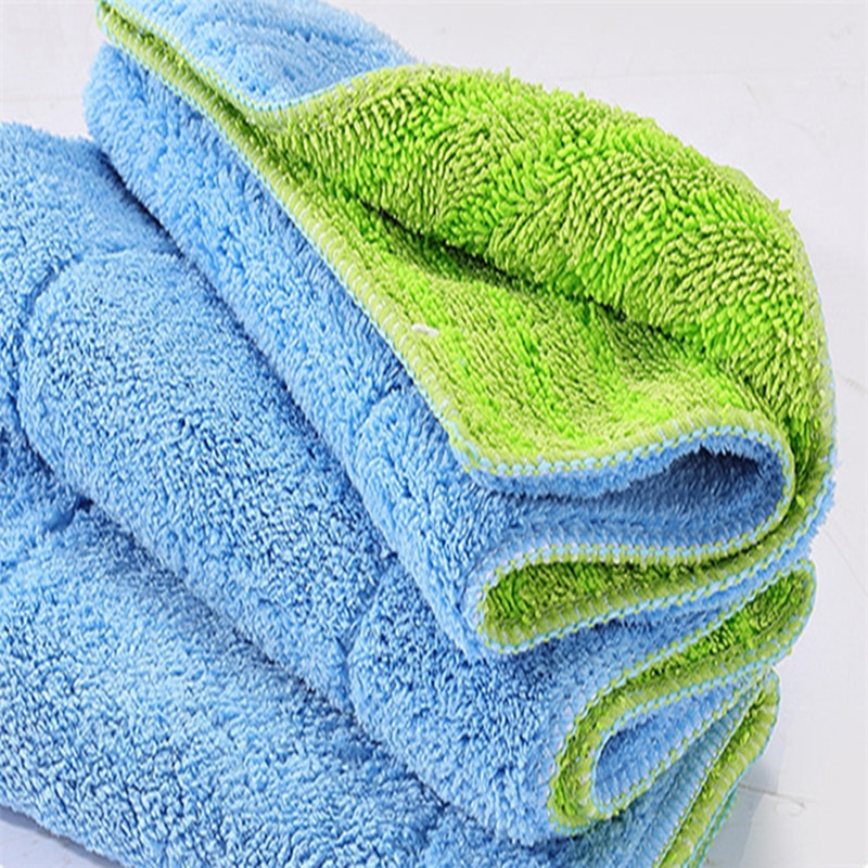 1Pc Microfiber Mop Head super absorbent Fiber kitchen towel Floor cleaning cloth Flat Mop replacement cloth Home cleaning tools enlarge