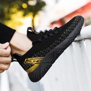 Men's Footwear 2021 Men's Breathable Casual Shoes Running Men's Shoes Comfortable Non-slip Front Lacing Mesh Cloth Shoes 38