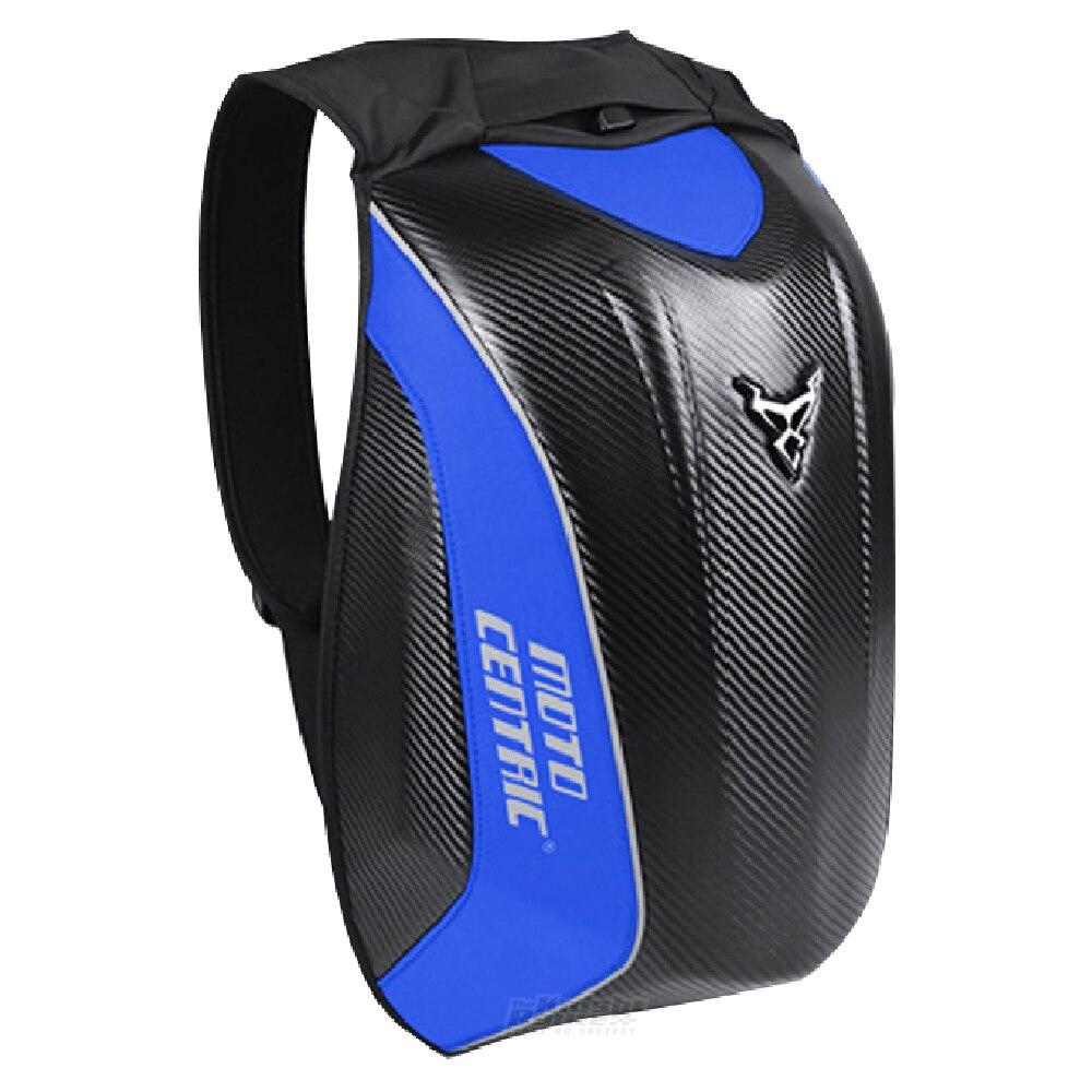 دراجة نارية على ظهره خوذة حقيبة ألياف الكربون مقاوم للماء موتو بجولة الأمتعة دراجة نارية موتوكروس ركوب سباق حقيبة كتف الأزرق