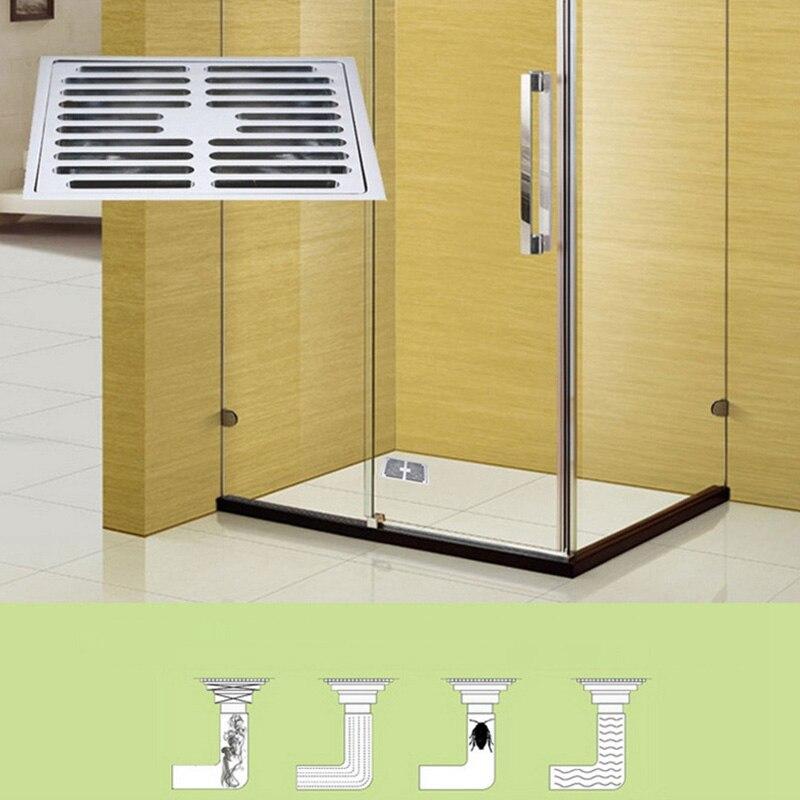 النحاس الحمام الطابق استنزاف ، استنزاف أرضية البلكون ، مربع نمط مزيل العرق ، الحمام دش الطابق استنزاف 100X100MM