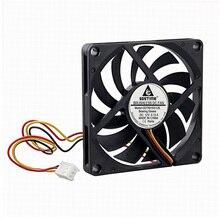 Gdstime 1 pièce cc 12V 80mm x 10mm 8cm 3Pin FG 8010 sans brosse cc refroidisseur ventilateur de refroidissement 80*80mm
