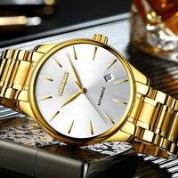 XINQITE Gold Man watch 2020 brand luxury Mechanic Watches Stainless Steel Waterproof Automatic Watch mechanical watch