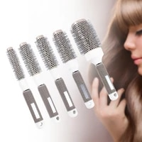 moonbiffy professional hair dressing brushes ceramic iron round comb 19mm 5 size hair styling tool hairbrush high temperature