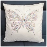 high quality diamond decorative cushion covers butterfly pattern diamond pillowcase soft pillow covers for sofa case diamond 5d