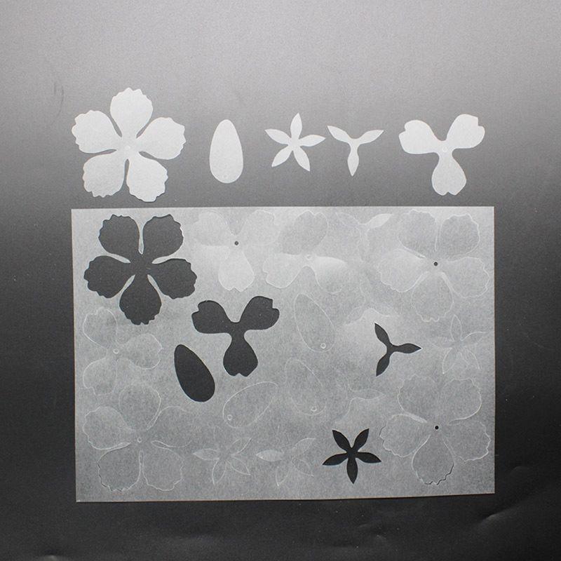 2Pc Flower Hairpin Heat Shrink Film DIY Magic Plastic Paper Sheet Jewelry Making
